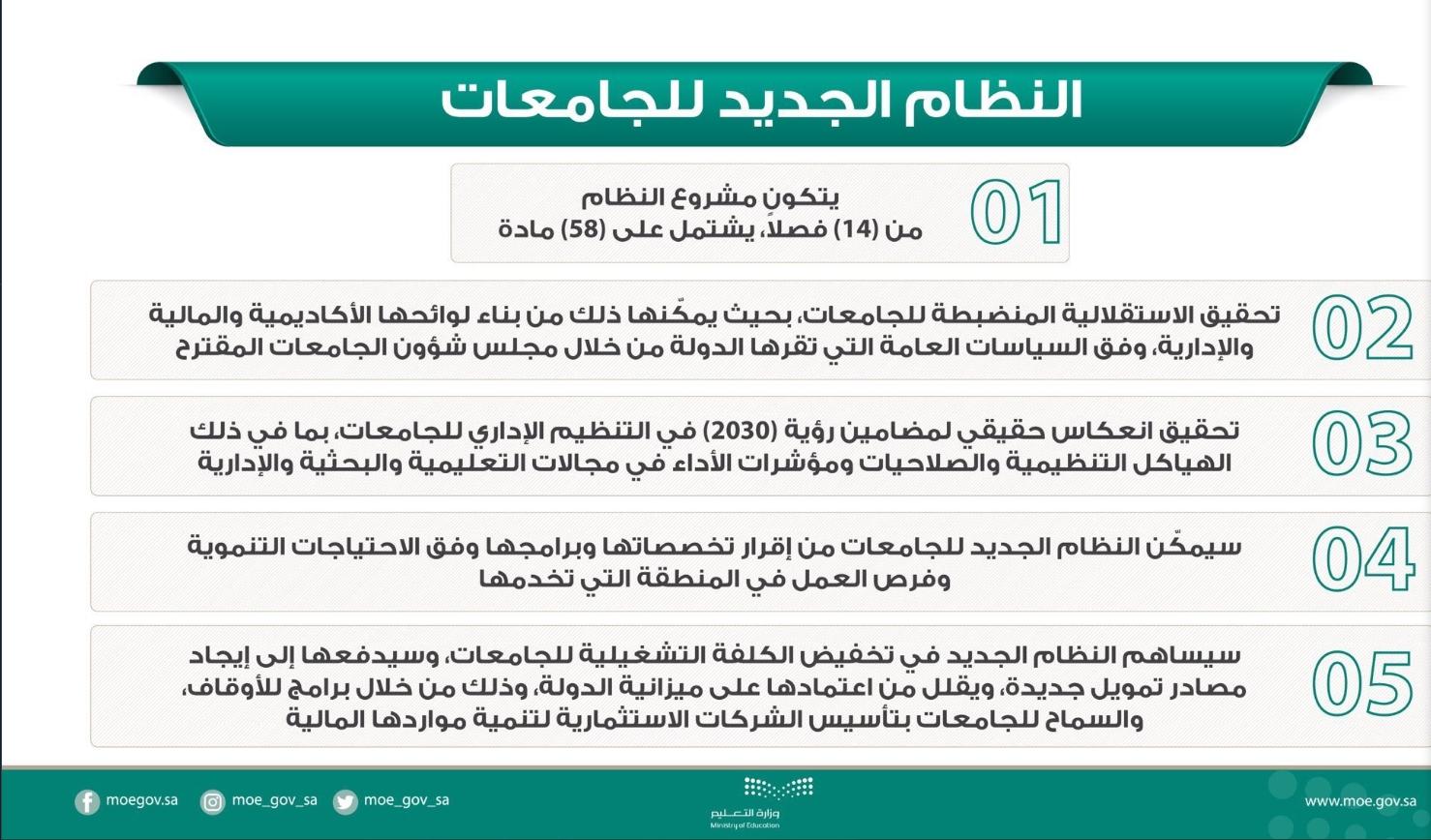 تعرف الى أبرز ملامح النظام الجديد للجامعات في المملكة العربية السعودية do.php?img=55526