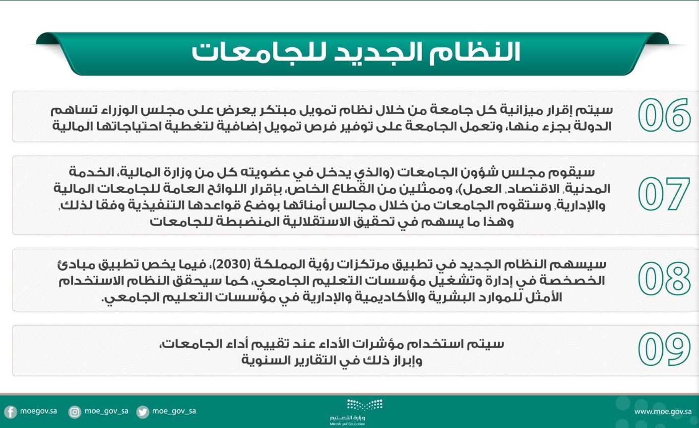 تعرف الى أبرز ملامح النظام الجديد للجامعات في المملكة العربية السعودية do.php?img=55527