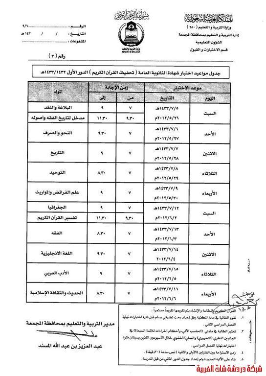 جدول اختبارات شهادة الثانوية العامة الفصل الثاني  الدور الاول 1433هـ 13358629232.jpg