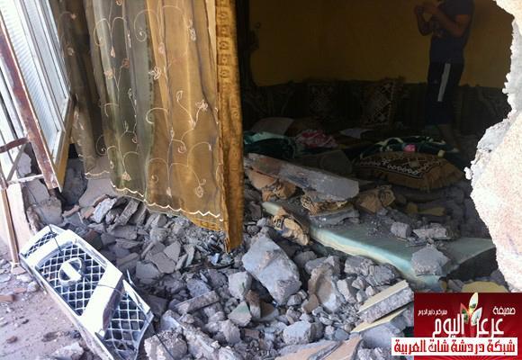 نجاة عائلة داخل منزلها بعرعر بعد قيام متهور بصدم سور المنزل 13388779774.jpg