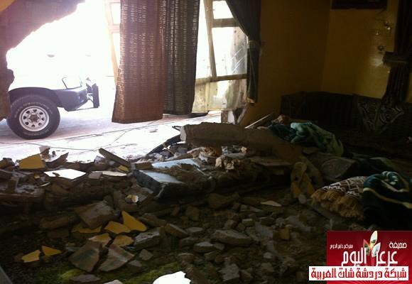 نجاة عائلة داخل منزلها بعرعر بعد قيام متهور بصدم سور المنزل 13388779776.jpg