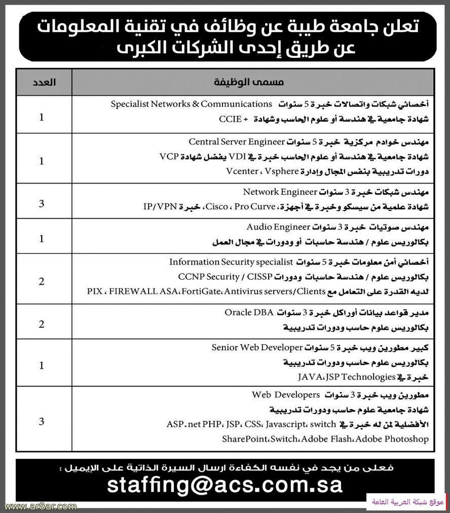 جامعة طيبة تعلن عن توفر وظائف في تقنية المعلومات 13710161771.jpg