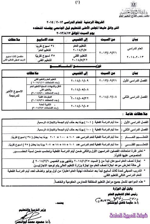 مواعيد الدراسة والاجازات والامتحانات للعام الدراسى 2013/ 2014 في جمهورية مصر 1379627135291.jpg