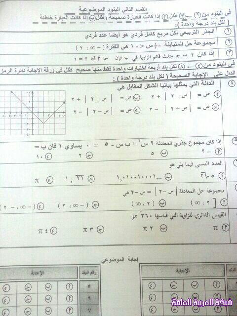 اختبار الرياضيات للصف العاشر الفترة الأولى منهاج الكويت 1385969385223.jpg