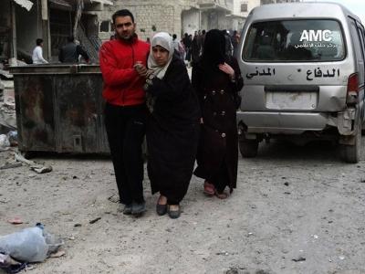 """المخابرات تمنع سكان """"حلب النظام"""" استقبال أقربائهم الفارين من براميله في الأحياء المحر 1391517461511.jpg"""