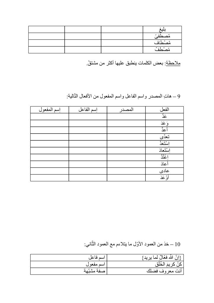 تمارين في النحو والصرف 1392919697731.png