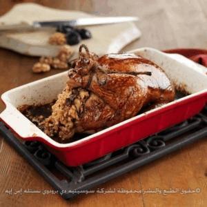 دجاج محمّص مدهون بدبس الرمّان ومحشو بالفريكه 1395617576171.jpg