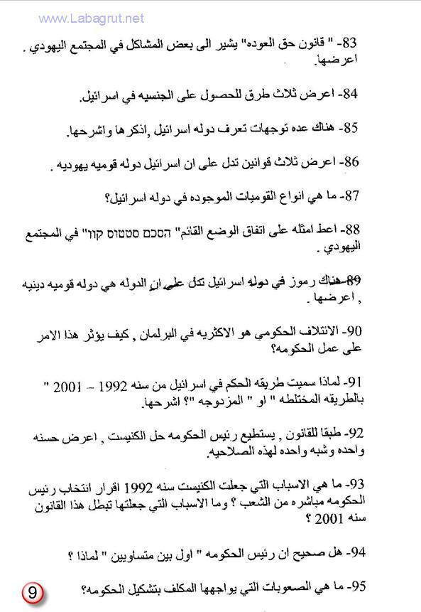 تحضير لبجروت المدنيات 166 سؤال في المدنيات 1398893506212.jpg