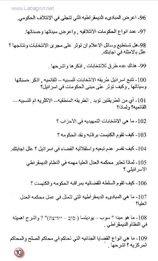 تحضير لبجروت المدنيات 166 سؤال في المدنيات 1398893506233.jpg