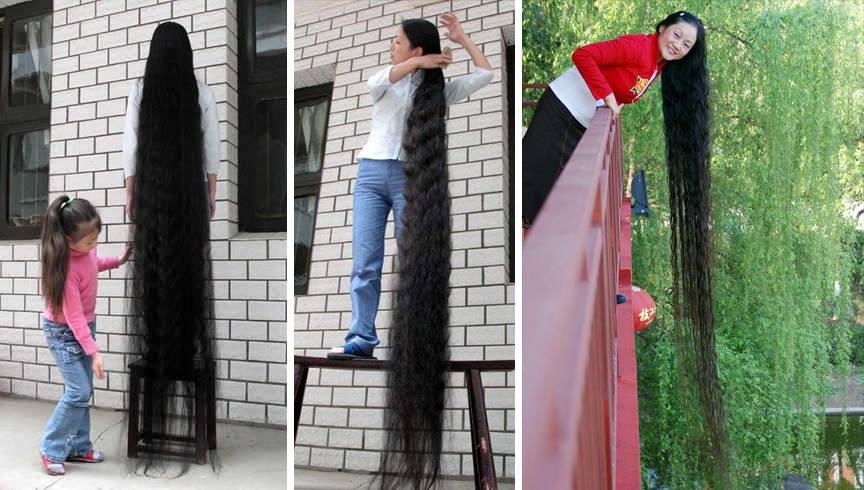 الصينية جيه كويبنغ صاحبة الرقم القياسي لأطول شعر امرأة في العالم. 1399947375951.jpg