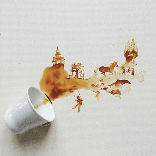 أجمل اللوحات بالقهوة والعسل والشوكولاتة 1436086719882.jpg