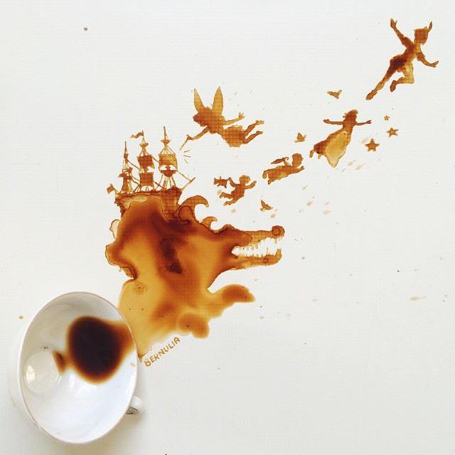 أجمل اللوحات بالقهوة والعسل والشوكولاتة 1436086719943.jpg