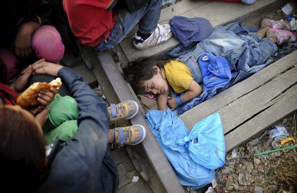 صور صادمة لمعاناة اللاجئين السوريين على حدود مقدونيا 1440242465252.jpg