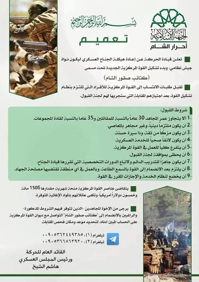 اعادة هيكلة الجناح العسكري لحركة احرار الشام 1440536568341.jpg