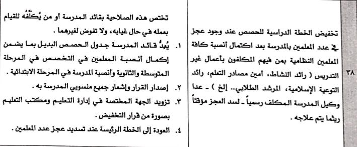 حصص الانتظار و ضوابط الجداول المدرسية و الاشراف اليومي 1438 ه 1473325935533.png