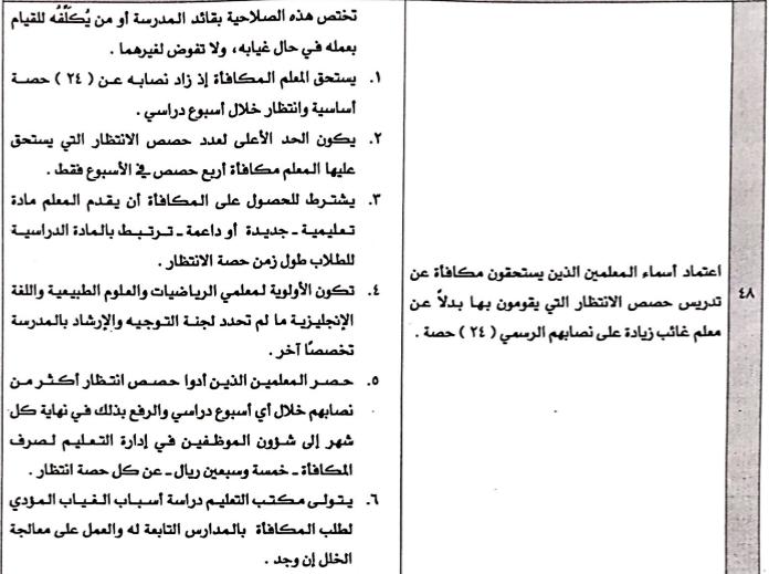 حصص الانتظار و ضوابط الجداول المدرسية و الاشراف اليومي 1438 ه 1473325935554.png